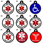 7 DAY SALE! Medical Alert PET ID TAGS-Diabetes-Dog-Seizures-Addisons Ships FREE