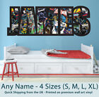 Childrens Name Wall Stickers Art Personalised Batman Comics Boys/Girls Bedroom