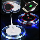Clear Qi Wireless Charger Pad for Samsung Galaxy S6 S7 S8 Note 8 iPhone X 8 Plus