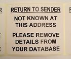Return To Sender - Junk Mail - Address Labels - 76mm x 50mm