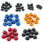 10Pcs M2 M3 M4 M5 Nylon Insert Self-Locking Nuts Aluminum Alloy Hex Lock Nut LJ