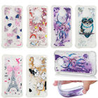 Picture Printed Glitter Quicksand Dynamic TPU Bling Gel Case Cover For Motorola