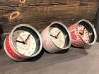 Retro Metal Anneau Pull Tin Can Desk Office Clock Mothers Day Valentines Chic