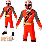 Deluxe Red Ninja Steel Power Rangers Boys Fancy Dress Superhero Childs Costume
