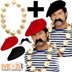French Garlic Garland + Hat Mens Fancy Dress National France Tash Costume Kit