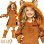 Sweet Fox Girls Fancy Dress Animal World Book Day Character Childs Kids Costume