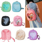 Transparent Heart Shaped Clear Backpack Girls Backpack Peach Heart Travel Bags