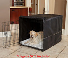 "Dog Kennel Crate Cover For 36"" & 42"" Pet Metal Wire Cage With 1, 2, 3 Door Black"