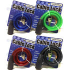 "Bicycle Cable Lock Bike Lock Heavy Duty 10mm x 36"" Anti Theft Device w 2 key(s)*"