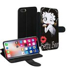 Betty Boop Printed PU Leather Stand Wallet Case for Apple iPhone Models - 0010 $23.63 AUD