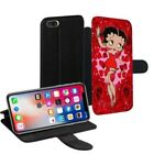 Betty Boop Printed PU Leather Stand Wallet Case for Apple iPhone Models - 0011 $23.63 AUD