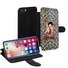 Betty Boop Printed PU Leather Stand Wallet Case for Apple iPhone Models - 0019 $15.38 USD