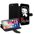 Betty Boop Printed PU Leather Stand Wallet Case for Apple iPhone Models - 0006 $18.47 USD