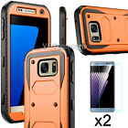REFINED ARMOR Rugged Shockproof Slim Phone Case Cover + 2-Pack Tempered Glass