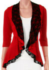 AT@ Funfash Plus Size Women Red Lace Cardigan Long Sleeve Sweater Made in USA