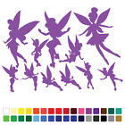 11 Fairy Stickers Set Any Colour Wall Laptop Glass Car Vinyl Wall Art Name A4