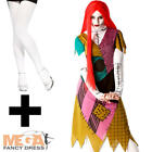 Sally Nightmare Before Christmas + Tights Ladies Fancy Dress Halloween Costume