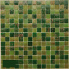 13x13 Mixed Fancy Green and Gold Glass Backsplash Tile
