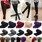 Women Winter Thick Warm Fleece Lined Thermal Leggings Stretchy Slim Skinny Pants