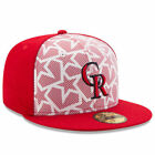 New Era Colorado Rockies White/Red Stars & Stripes 59FIFTY Fitted Hat - MLB