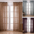 Jacquard Window Floral Tulle Curtain Poly Blend Livingroom Balcony Voile Curtain