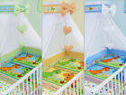 BABY BEDDING SET DINO DESIGN 10 PCS CANOPY DUVET PILLOW BUMPER CRIB COT COTBED image