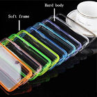 Ultra Thin Clear Hard Back Case Soft Silicone Bumper Cover For iPhone 6s plus 6+