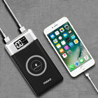 FDGAO QI Wireless Charge 2USB Charger 10000mAh Power Bank Battery For iPhone X