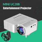 UC28B HD Mini Projector Portable Micro Projector 1080p Android Phone Black White