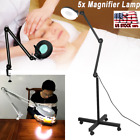 5x Magnifier  Diopter Table Magnifying Floor Lamp Desk Top Light Adjustable