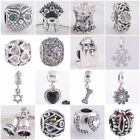 Authentic Solid 925 Sterling Silver Charms E fit European Bead Charm Bracelets