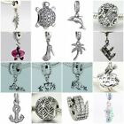 Authentic Solid 925 Sterling Silver Charms Y fit European Bead Charm Bracelets