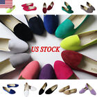 ladies shoes - Womens Ladies Slip On Flat Shoe Pumps Ballet Dolly Casual Ballerina Shoes Size