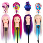 """Pro Cosmetology Mannequin Head 2 Colors Hair Hairdressing Training Doll 26"""" LJ"""