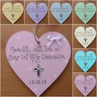 Personalised  1st First  Holy Communion  wooden heart gift  keepsake plaque
