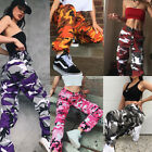 UK STOCK Womens Camo Cargo Trousers Pants Military Army Combat Camouflage Jean