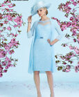 New Mother Of The Bride Outfits With Jacket Knee Length Formal Groom Dress 6-20+