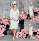 Plus Size Tea Length Mother of the Bride suit outfit Lace Wedding Mum Dress New