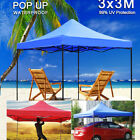 3x3M Pop-Up Garden Gazebo Heavy Duty Commercial Market Party Tent Marquee Canopy