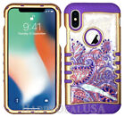 For Apple iPhone X - KoolKase Hybrid Shockproof Cover Case - Crystal Paisley
