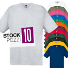pacco 10 magliette da stampare stock t shirt cotone fruit of the loom original t
