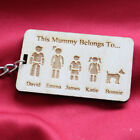 Personalised Mother's & Father's Day Family Portrait Mummy Daddy Keyring Gift K3