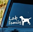 Lab Family Labrador Mom Dog Decal Sticker Labradoodle Gift Accessories *L1036