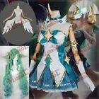 LOL Star Guardian Soraka Cosplay Full Set Dress Shoes Wings Accessory Wigs New