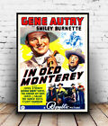In old Monterey : Vintage Movie Ad , poster, Wall art, poster, reproduction