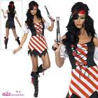 Womens Sexy Shipwrecked Pirate Lady Fancy Dress Costume Ladies Buccaneer Outfit