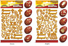 Внешний вид - Golden Stickers for Decoration Easter Egg Patterns Doves Angels Pomegranate Dye