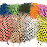 OPST DOTTED OSTRICH DRABS - Spotted Intruder Fly Tying Feathers - 2 Pack NEW!