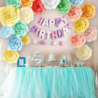 Paper Large Rose Flower Backdrop Wall DIY Wedding Birthday Party Home Decoration