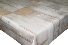 Neutral Wooden Floorboards PVC Tablecloth Vinyl Oilcloth Kitchen Dining Table